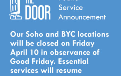 The Door will be Closed on Friday, April 10