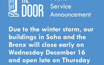 Winter Storm Advisory: Early Closure on 12/16